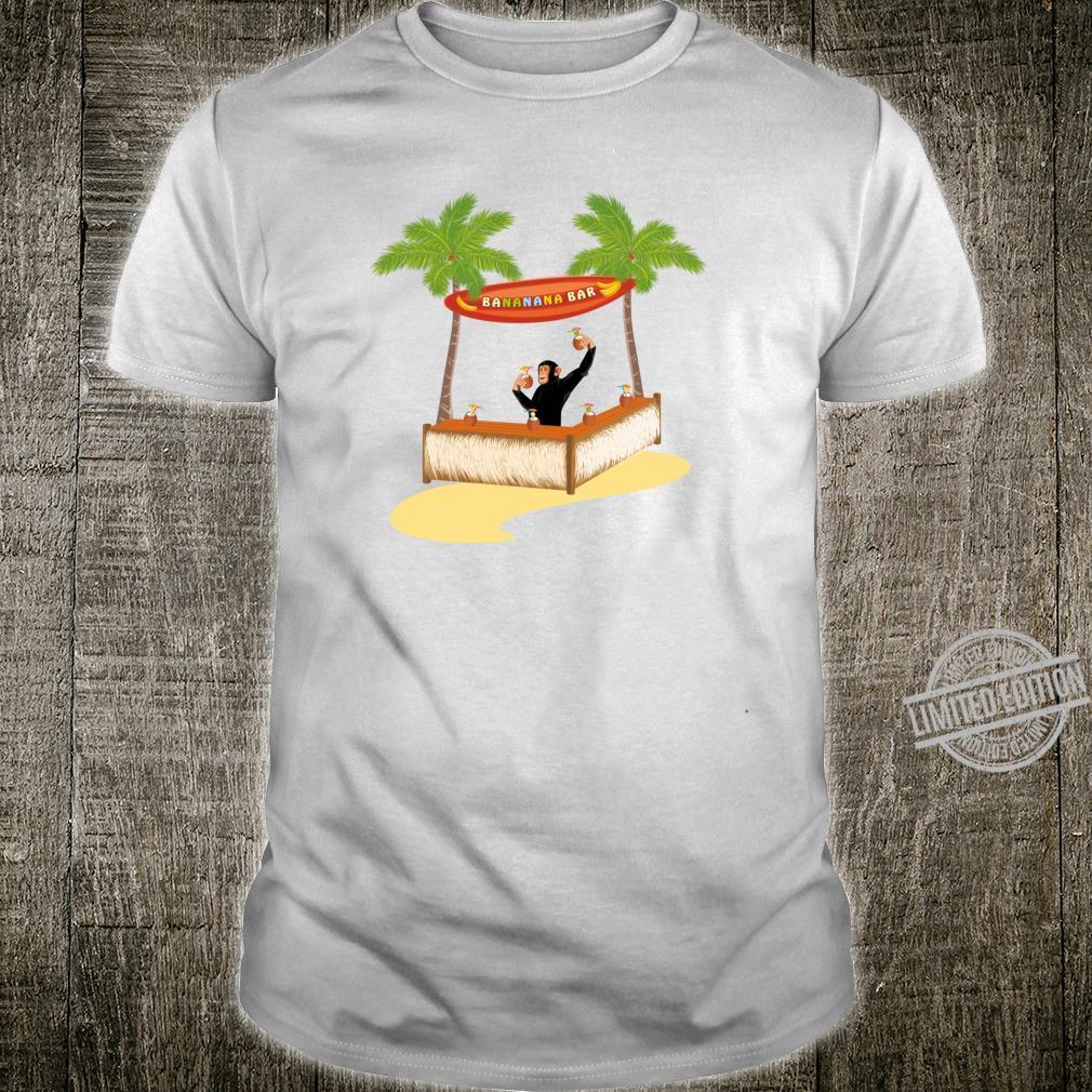 Affe an der Strandbar mixt Cocktails Shirt