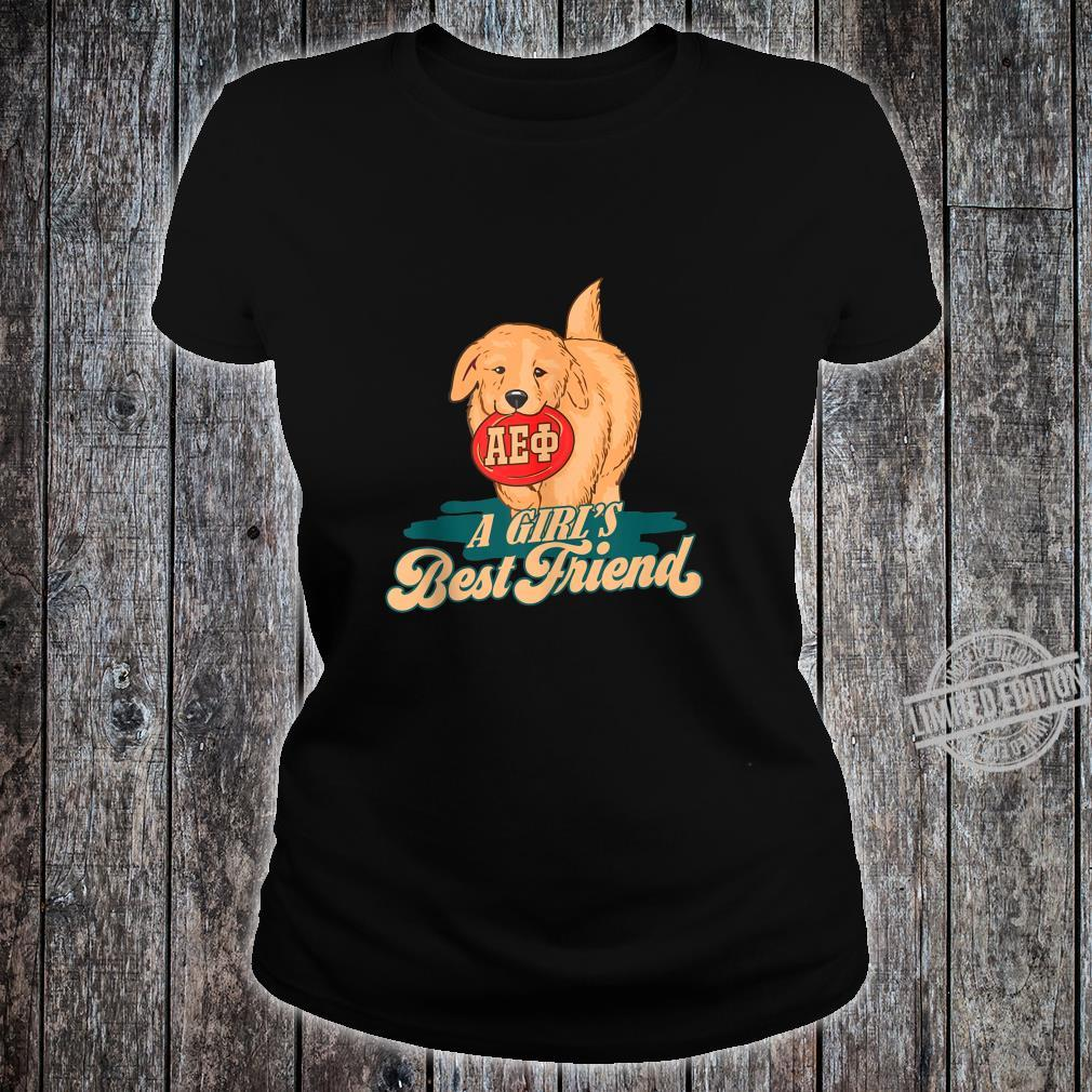 AlphaEpsilonPhi Girl's Best Friend Sorority Shirt ladies tee