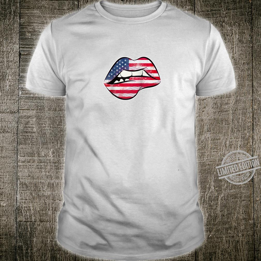 American Flag Lips Shirt