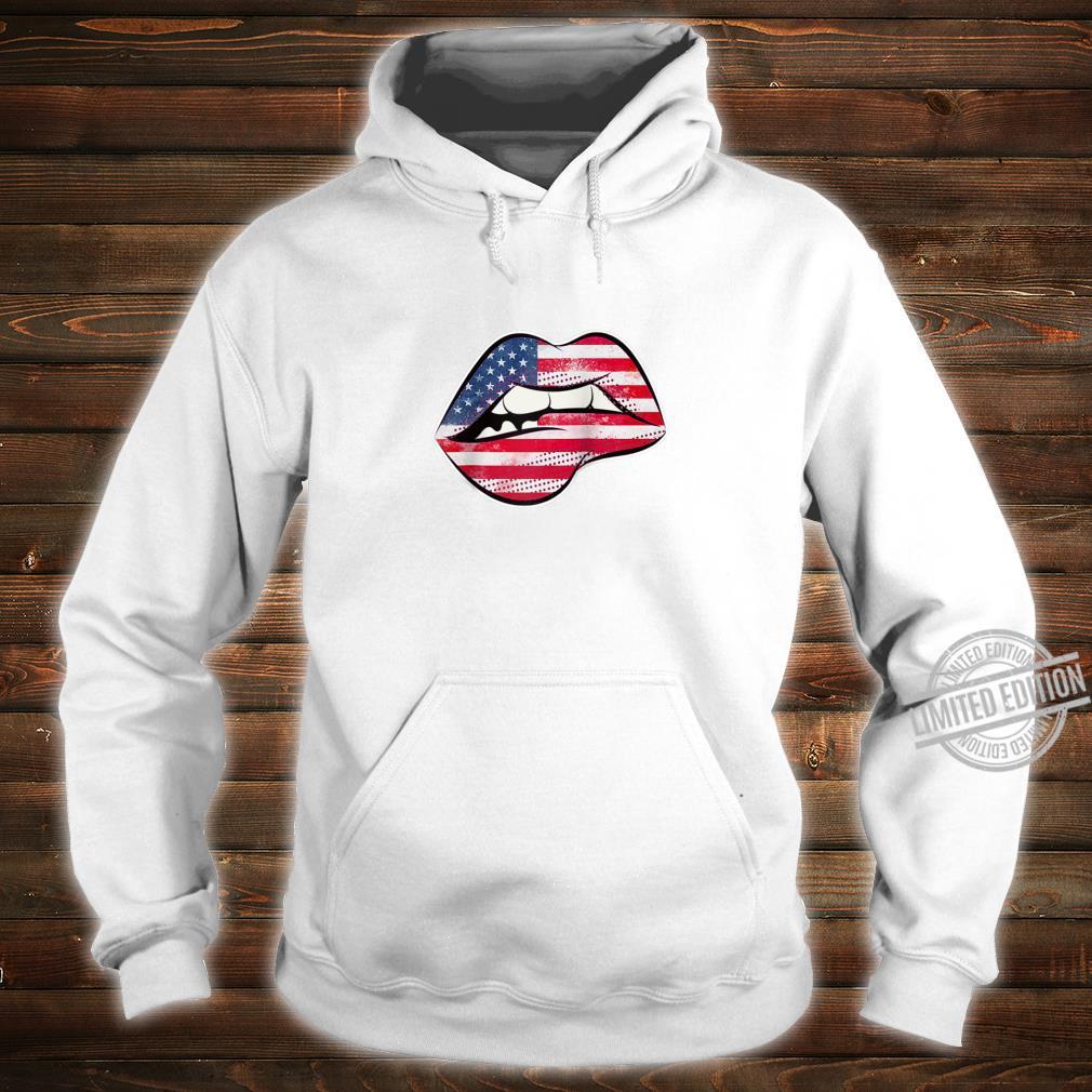 American Flag Lips Shirt hoodie