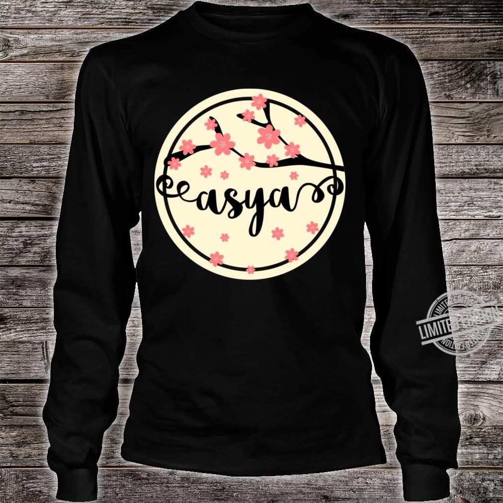 Asya Name Crewneck Shirt long sleeved