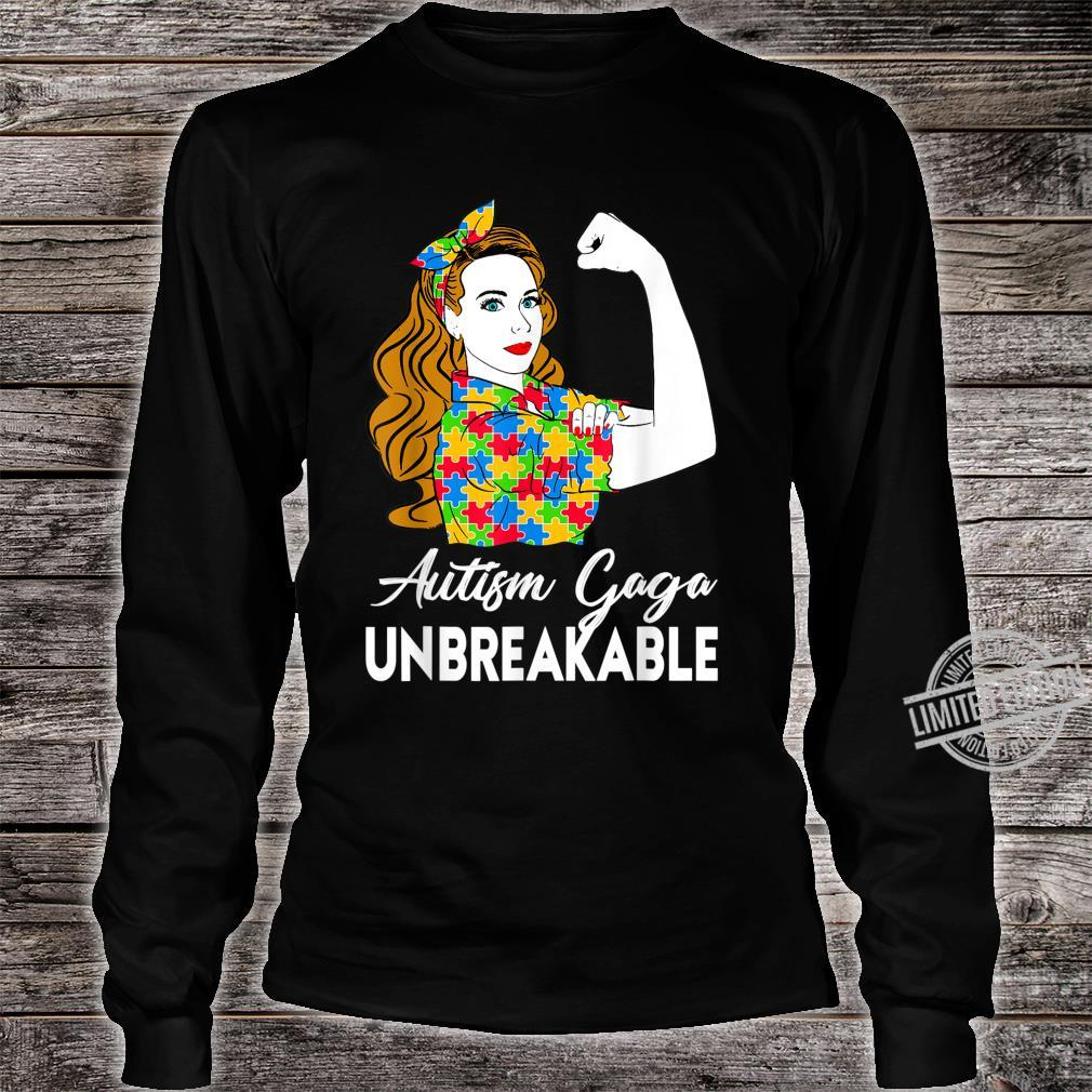 Autism Awareness Autism Autism Gaga Unbreakable Shirt long sleeved