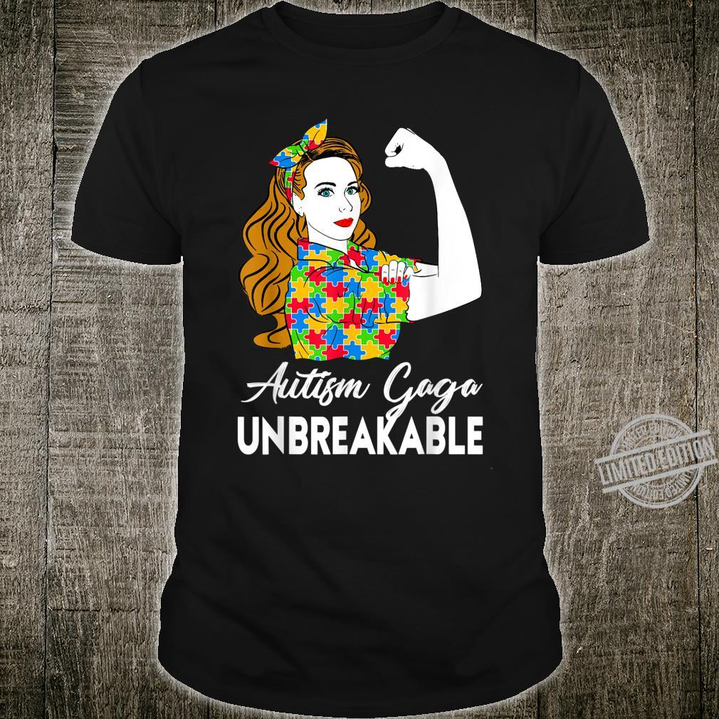 Autism Awareness Autism Autism Gaga Unbreakable Shirt