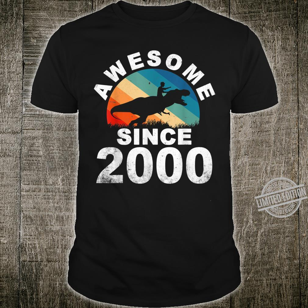 Awesome Since 2000 20th Dinosaur Trex 20 Year Old Shirt