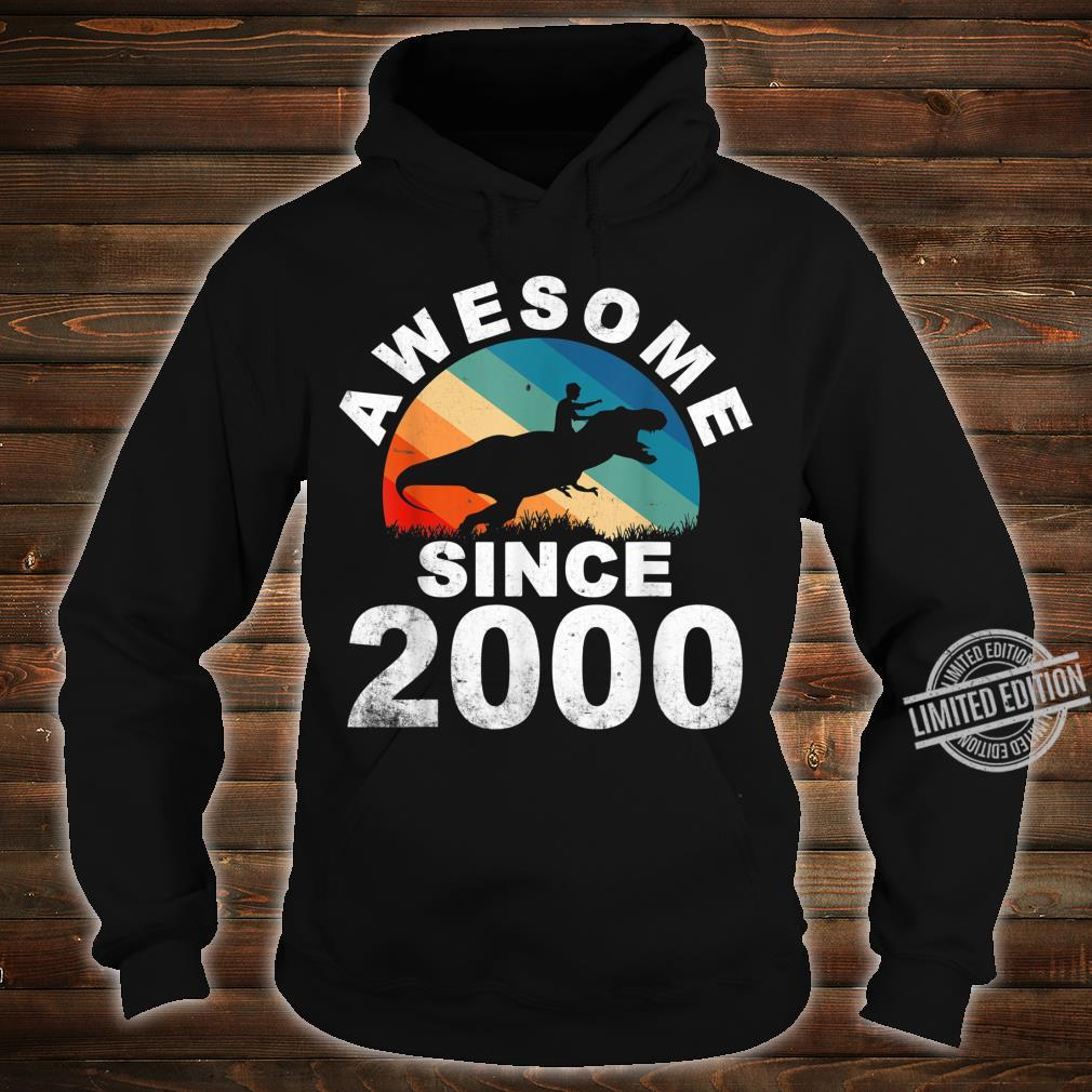 Awesome Since 2000 20th Dinosaur Trex 20 Year Old Shirt hoodie