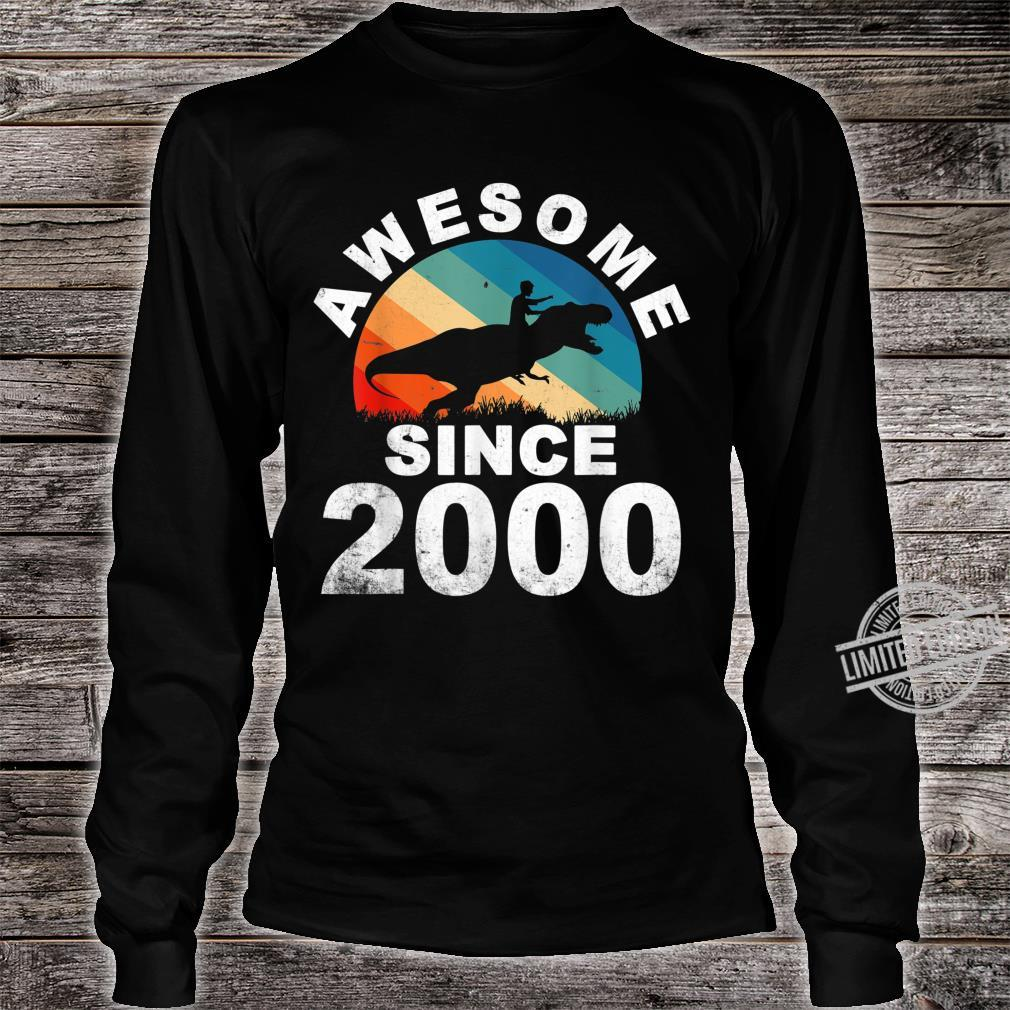 Awesome Since 2000 20th Dinosaur Trex 20 Year Old Shirt long sleeved