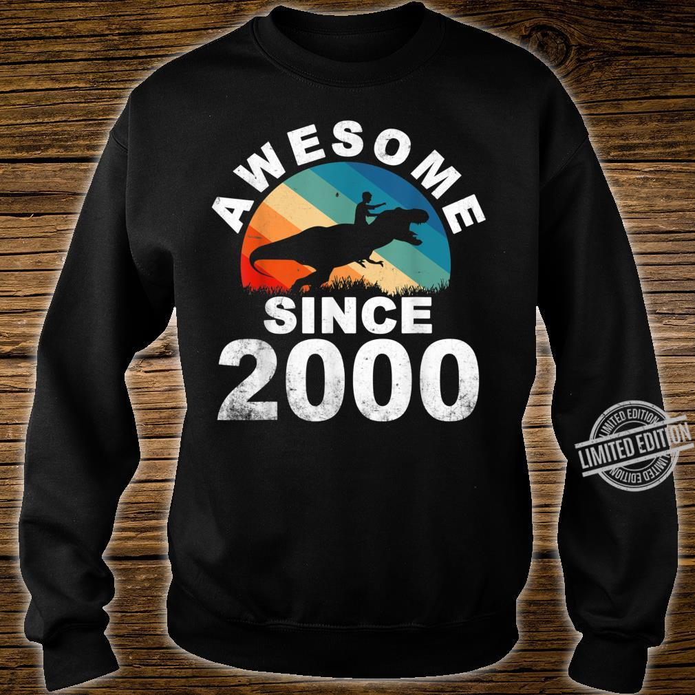 Awesome Since 2000 20th Dinosaur Trex 20 Year Old Shirt sweater
