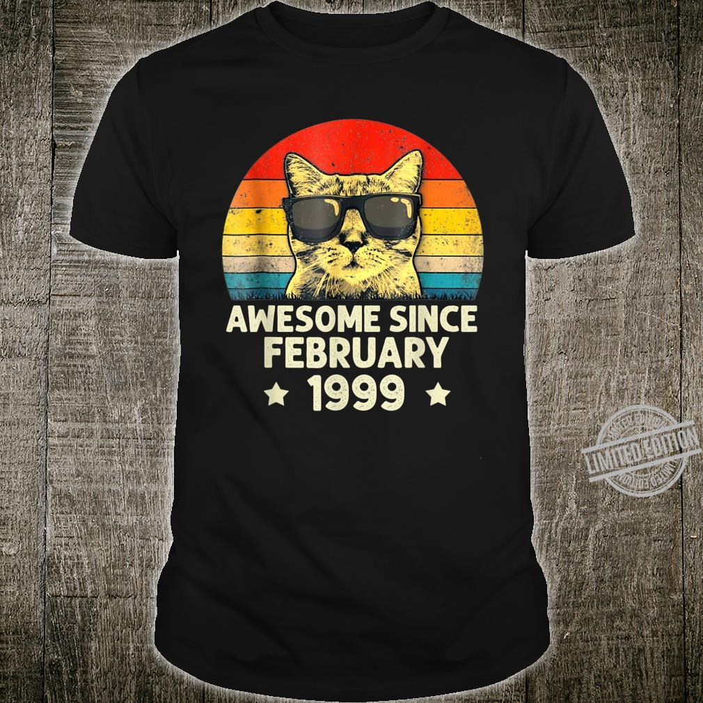 Awesome Since February 1999 21st Birthday Cat Shirt
