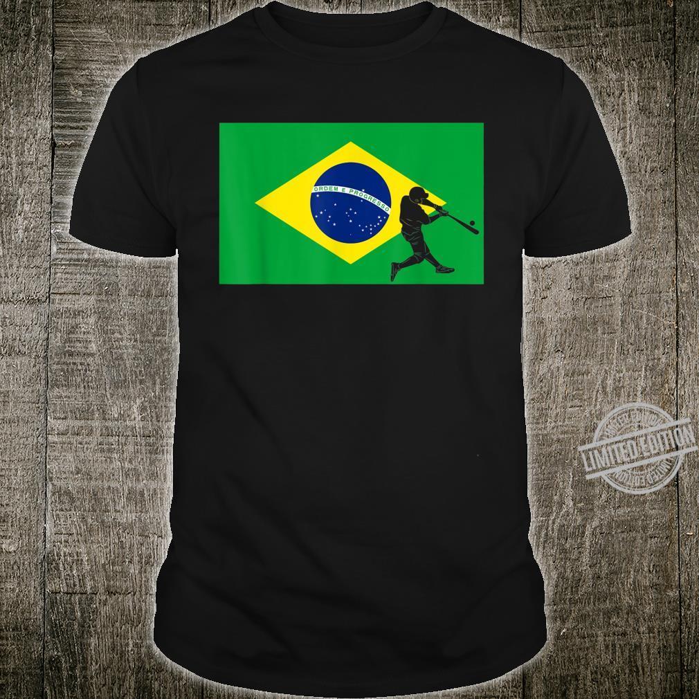 Baseball Game League Pride Brazil Flag National Team Player Shirt