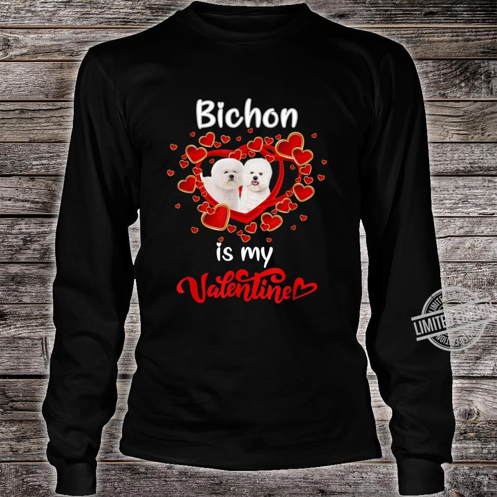 Bichon Is My Valentine Family Costume Lovely Shirt long sleeved