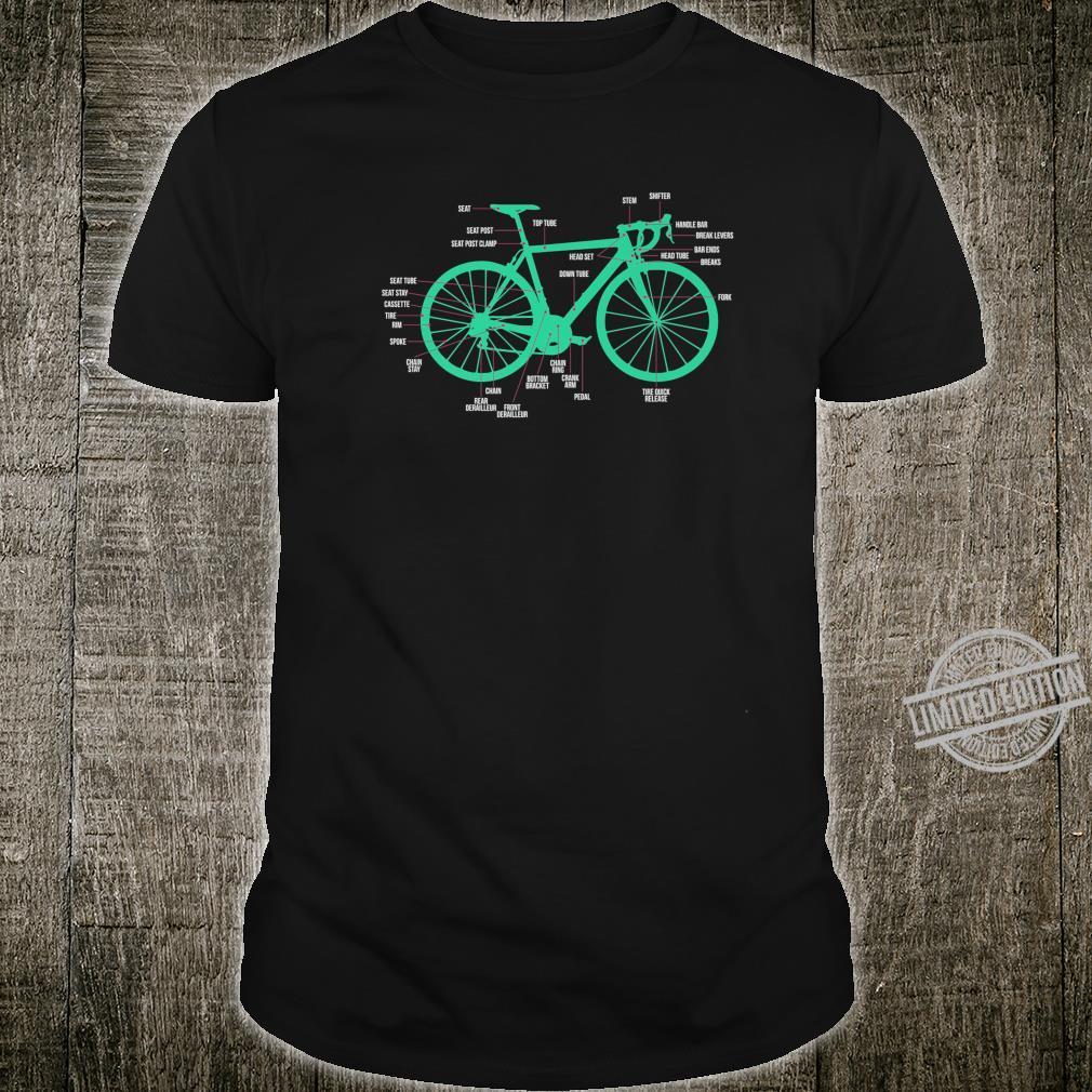 Bicycle Anatomy Road Bike Parts Bicycle Builder Shirt