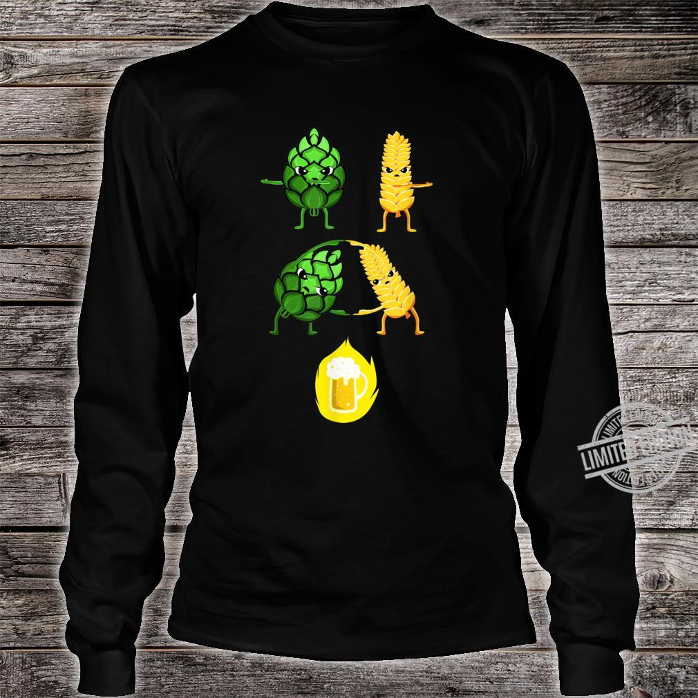 Biertrinker Malz und Hopfen Bier Fusion Geschenk Shirt long sleeved