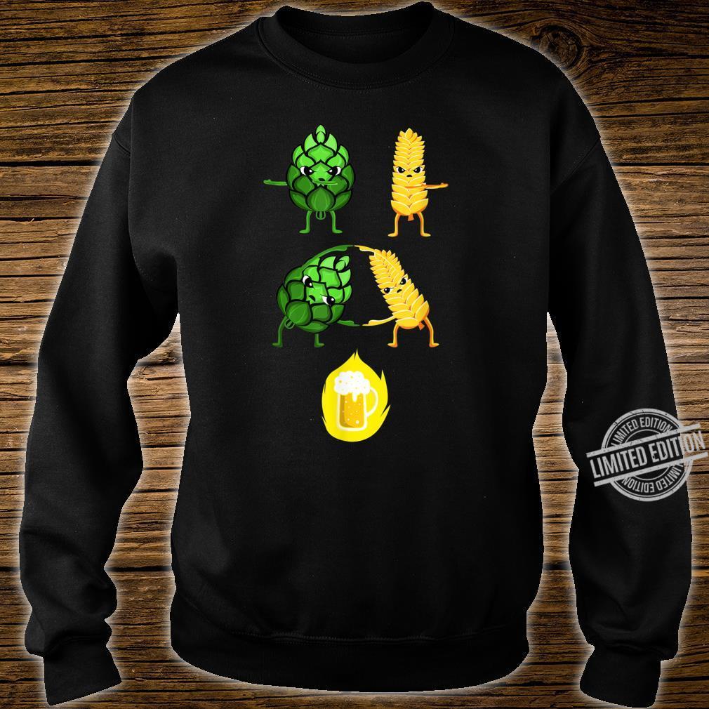 Biertrinker Malz und Hopfen Bier Fusion Geschenk Shirt sweater