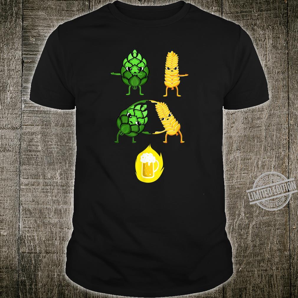 Biertrinker Malz und Hopfen Bier Fusion Geschenk Shirt