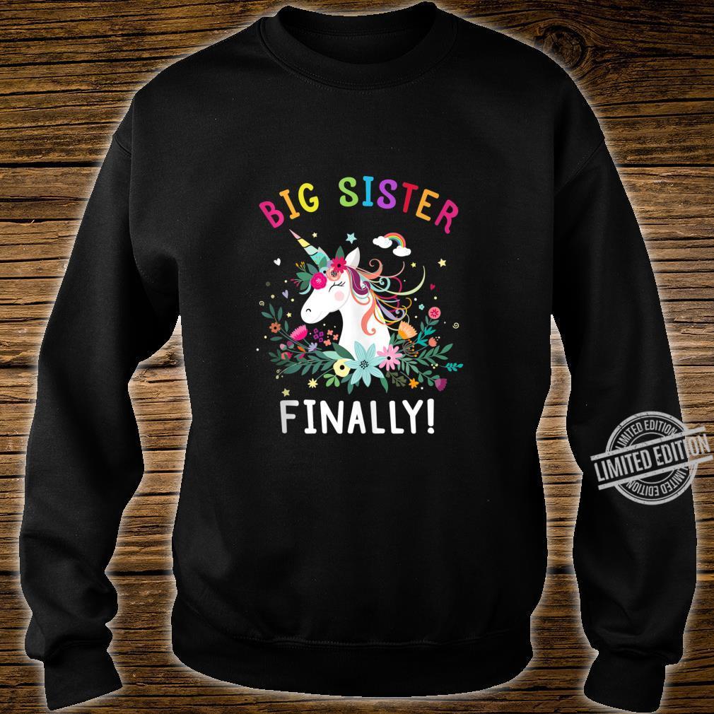 Big Sister Finally Cute Dabbing Unicorn Girl Shirt sweater