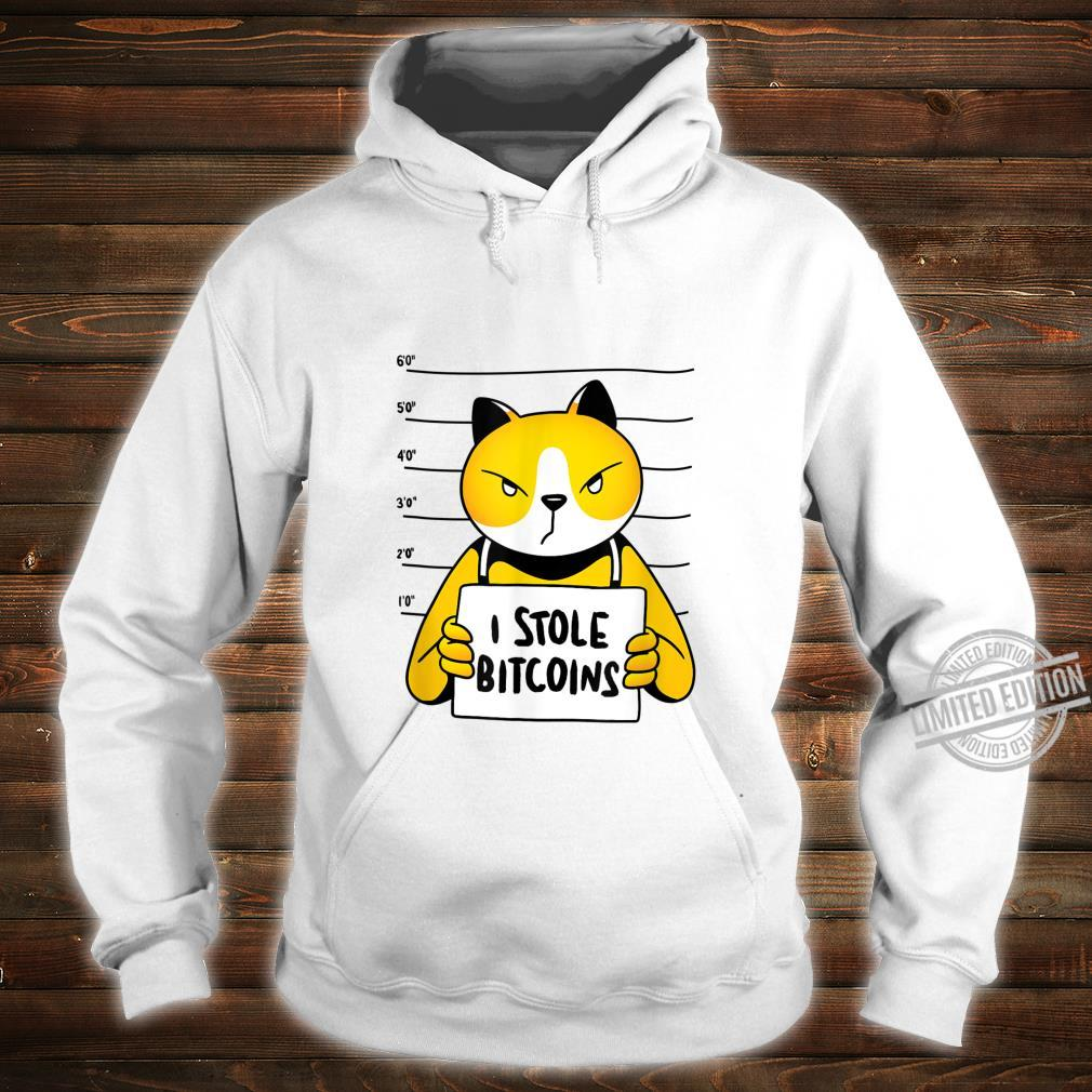 Bitcoin Dieb Katze Lustiges Katzen I Stole Bitcoin Shirt Shirt hoodie