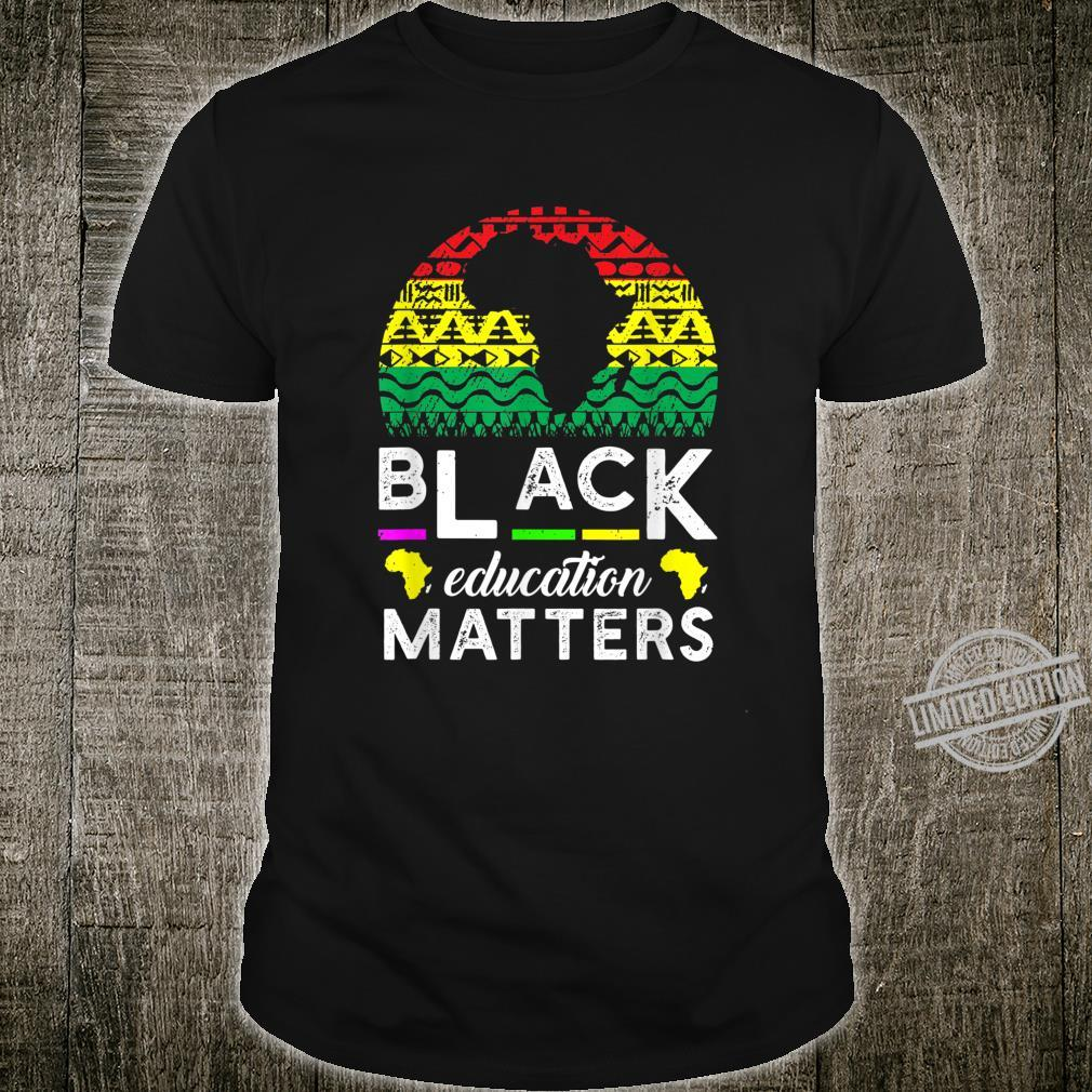 Black Educators Matter Teacher Black History Month 2020 Shirt