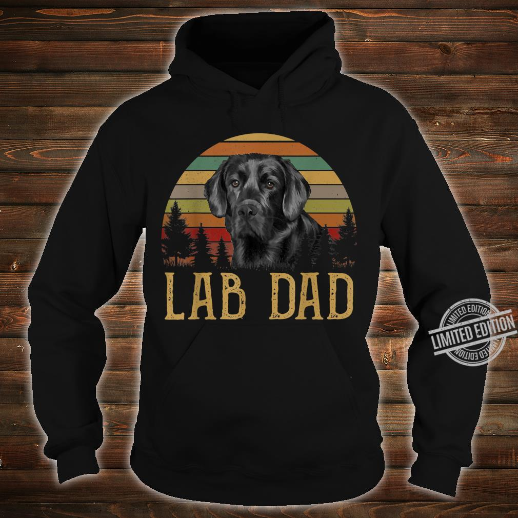 Black Labrador Lab Dad Father Retro Vintage Shirt hoodie