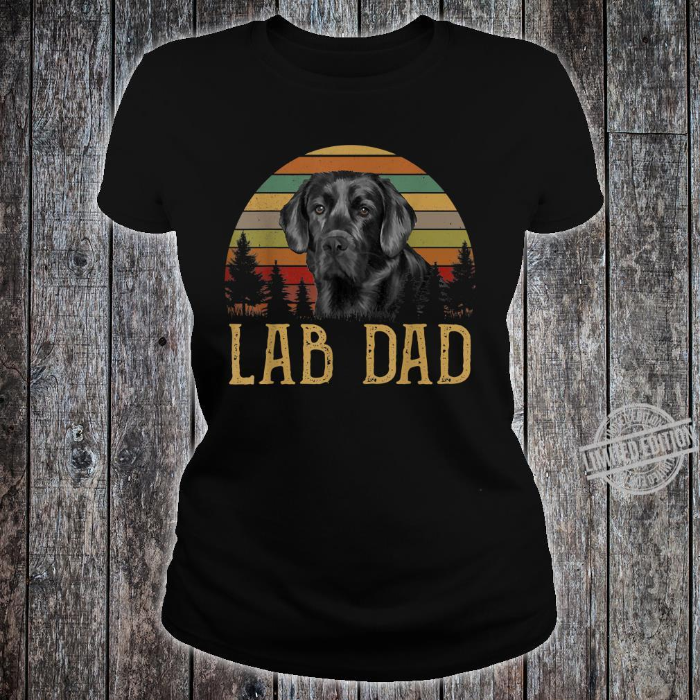Black Labrador Lab Dad Father Retro Vintage Shirt ladies tee