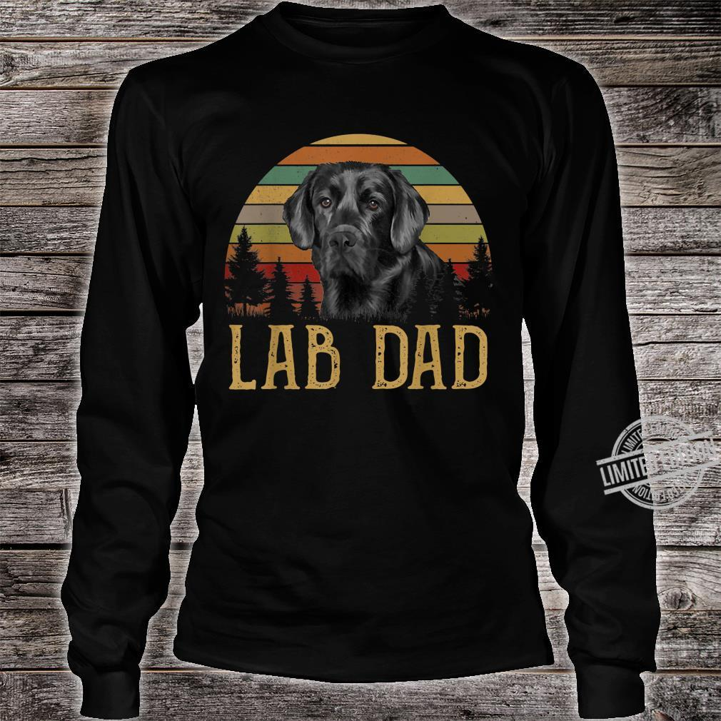 Black Labrador Lab Dad Father Retro Vintage Shirt long sleeved