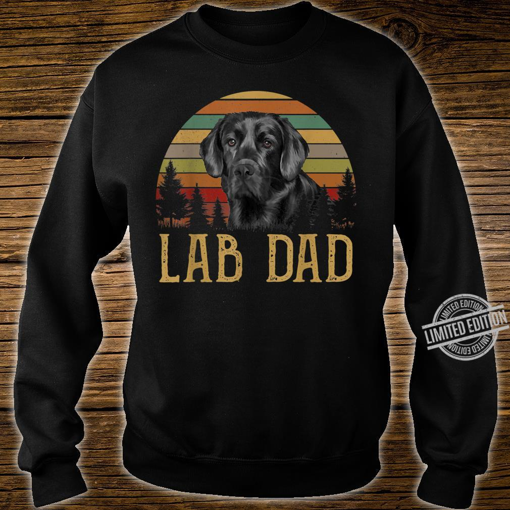 Black Labrador Lab Dad Father Retro Vintage Shirt sweater
