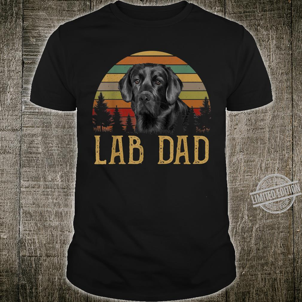Black Labrador Lab Dad Father Retro Vintage Shirt
