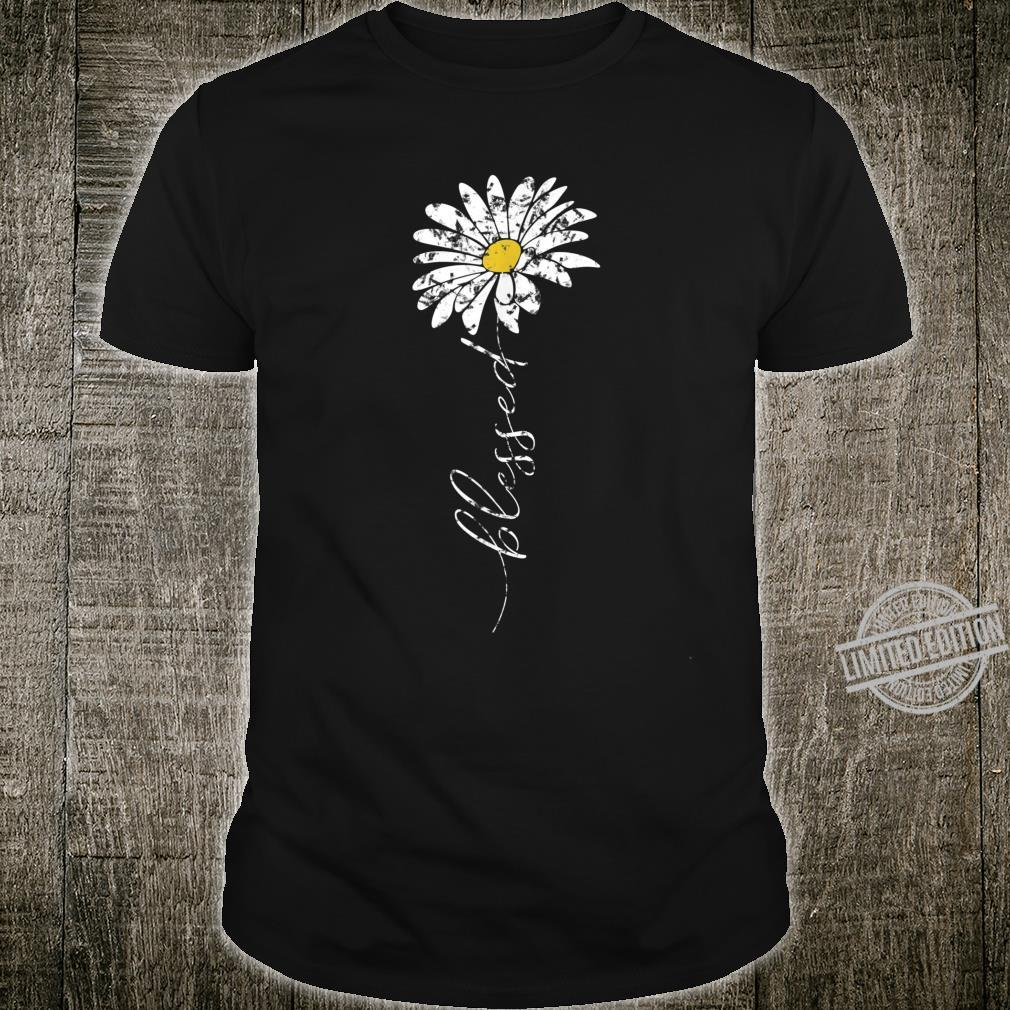 Blessed Daisy Flower Christian Shirt