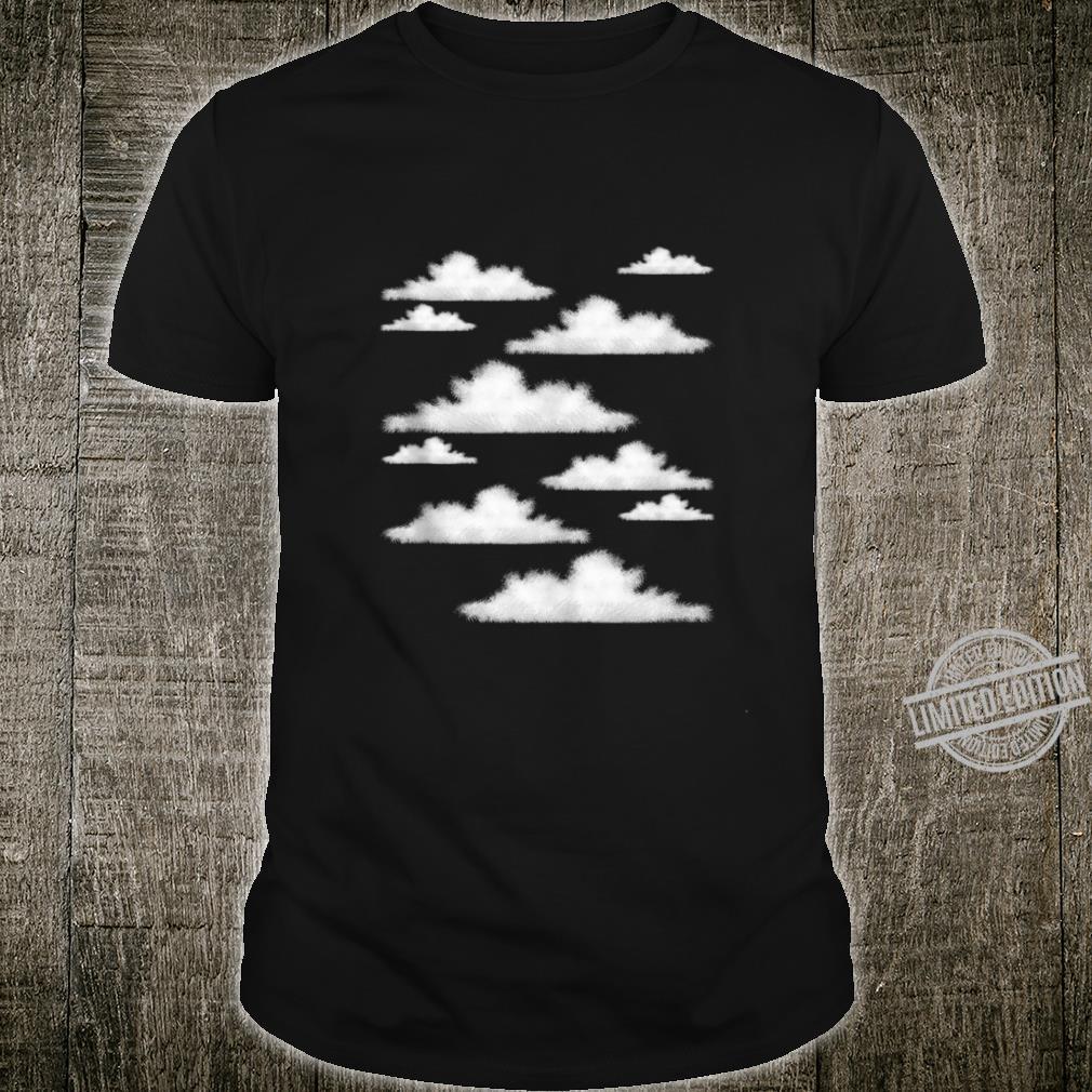 Blue Sky Clouds Cool Atmosphere Pastel Color Art Shirt