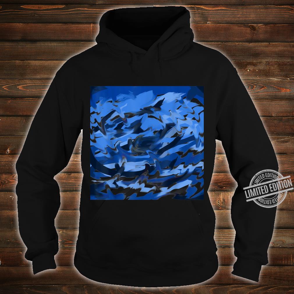 Blue Swirl Shirt hoodie