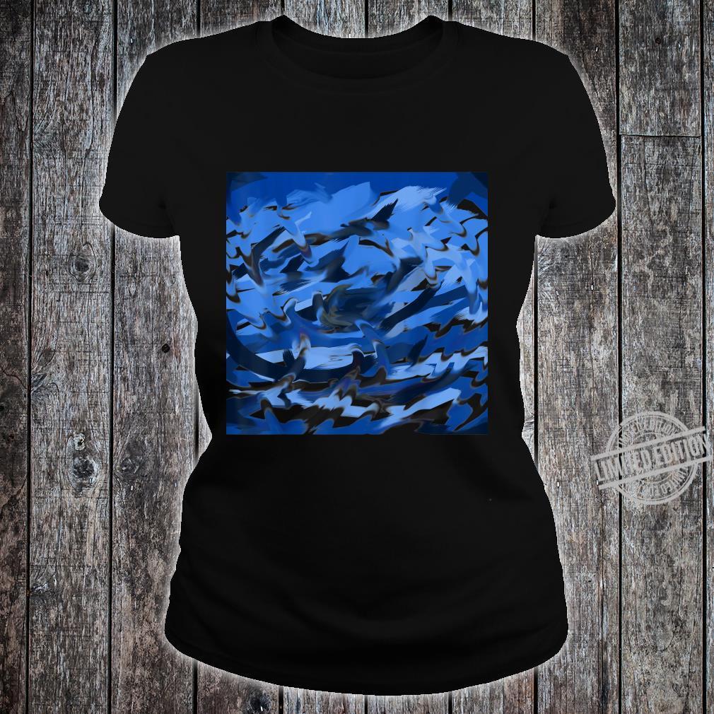 Blue Swirl Shirt ladies tee
