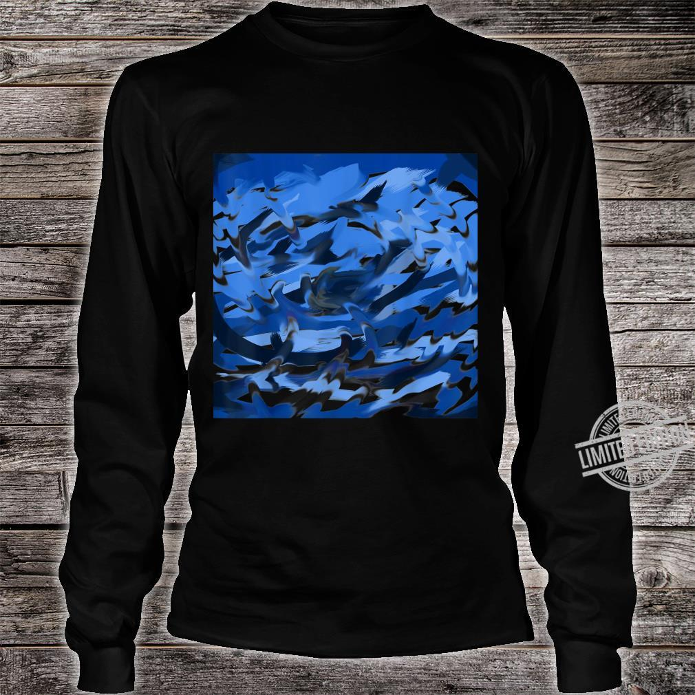 Blue Swirl Shirt long sleeved