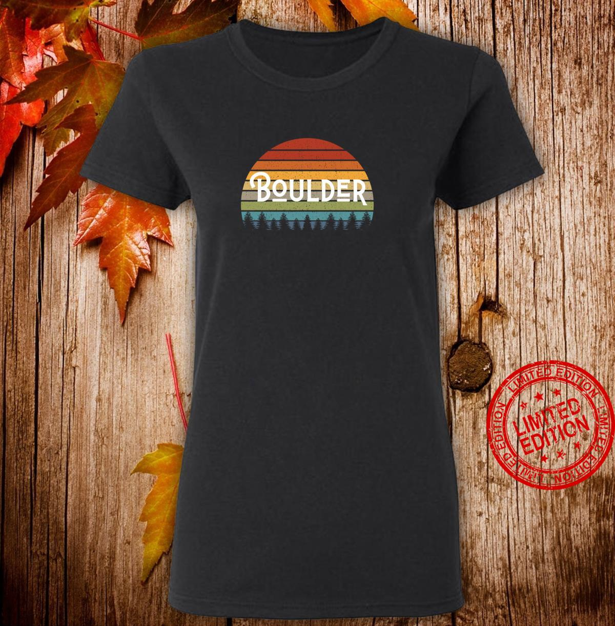 Boulder Colorado Mile High State Pride for Fans and Students Shirt ladies tee