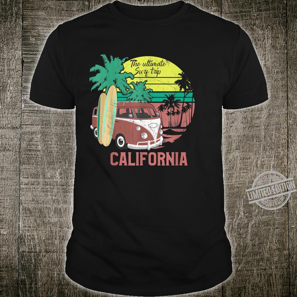 California Retro Vintage 80s Throwback Surf Shirt