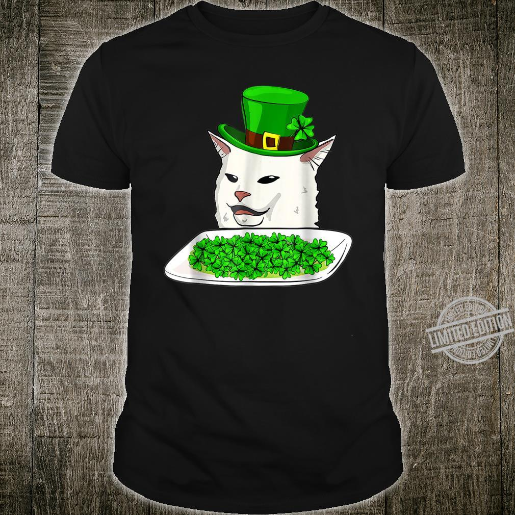 Cat Meme Yelling St Patricks day Irish Cats Shirt