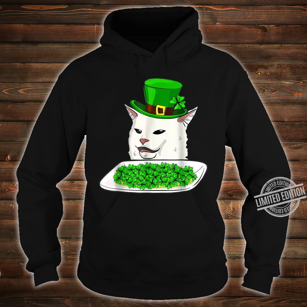 Cat Meme Yelling St Patricks day Irish Cats Shirt hoodie