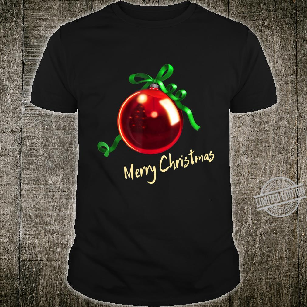Christmas Ball Christbaum Kugel red D0100558A Shirt