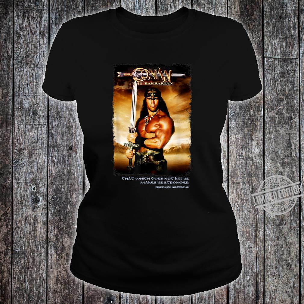 Cimmerian Warrior Conans Sword Barbarian Destroyer Crom Doom Shirt ladies tee
