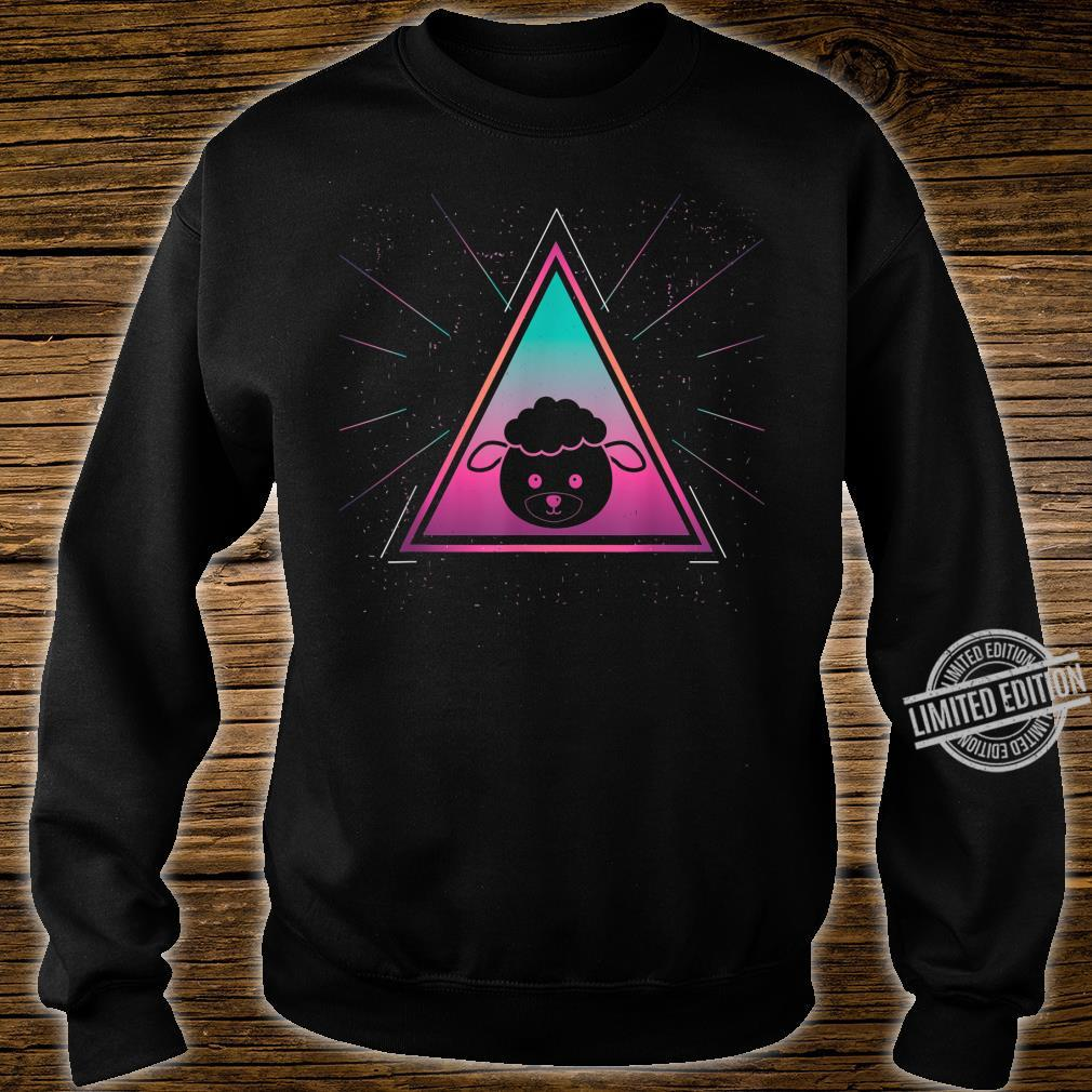 Colorful Sheep Geometrical Triangle Mammal Retro Style Shirt sweater