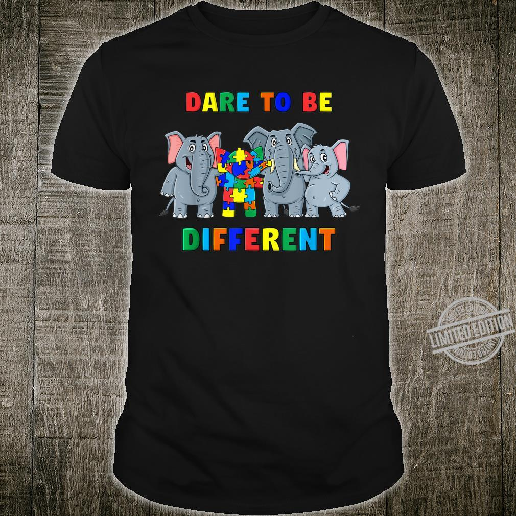 Dare To Be Different Elephants Autism Boys Girls Shirt
