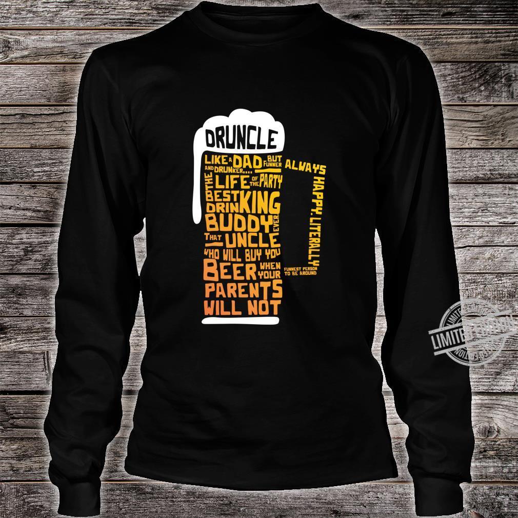 Druncle Uncles Beer Shirt long sleeved