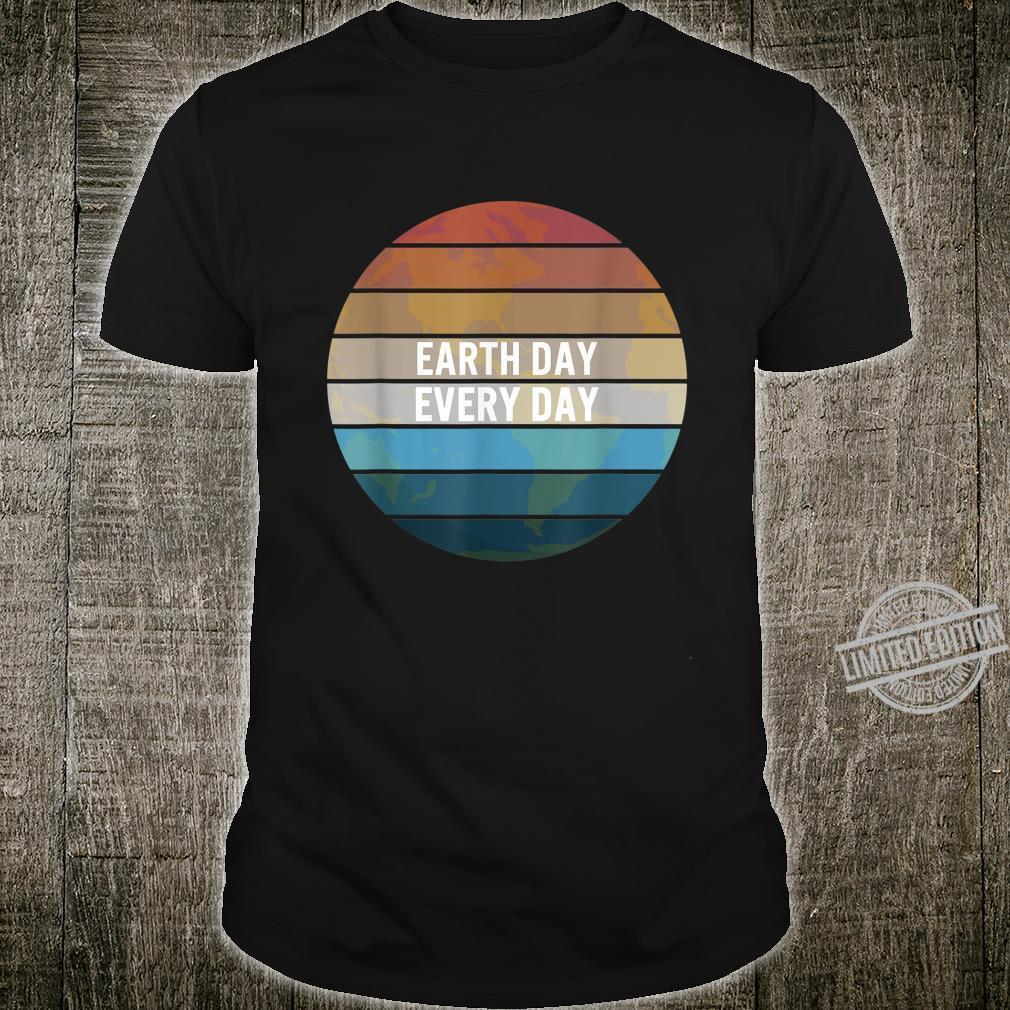 Earth Day Everyday Rainbow Pine Tree Nature Green Shirt