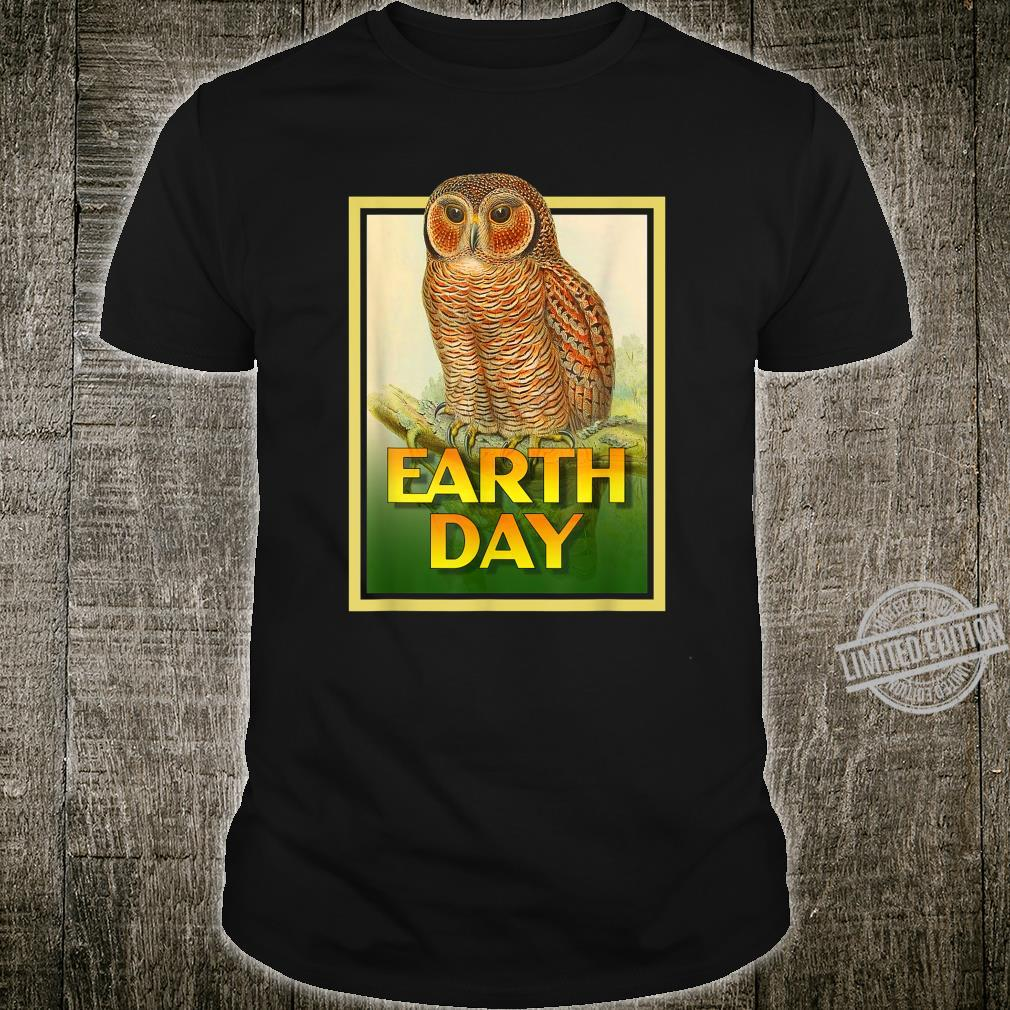 Earth Day Speckled Wooded Owl Bird Set 1 Shirt