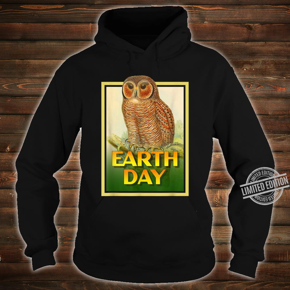 Earth Day Speckled Wooded Owl Bird Set 1 Shirt hoodie