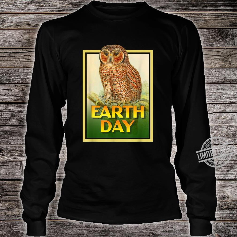 Earth Day Speckled Wooded Owl Bird Set 1 Shirt long sleeved