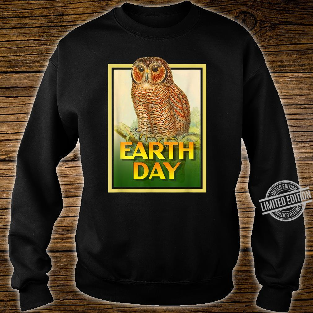 Earth Day Speckled Wooded Owl Bird Set 1 Shirt sweater