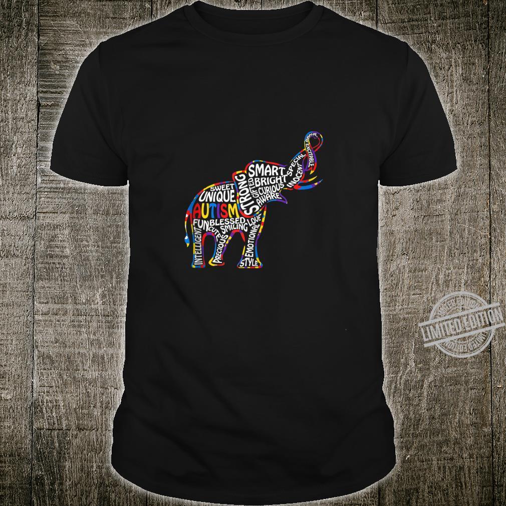 Elephant Autism Awareness Day Ribbon Shirt
