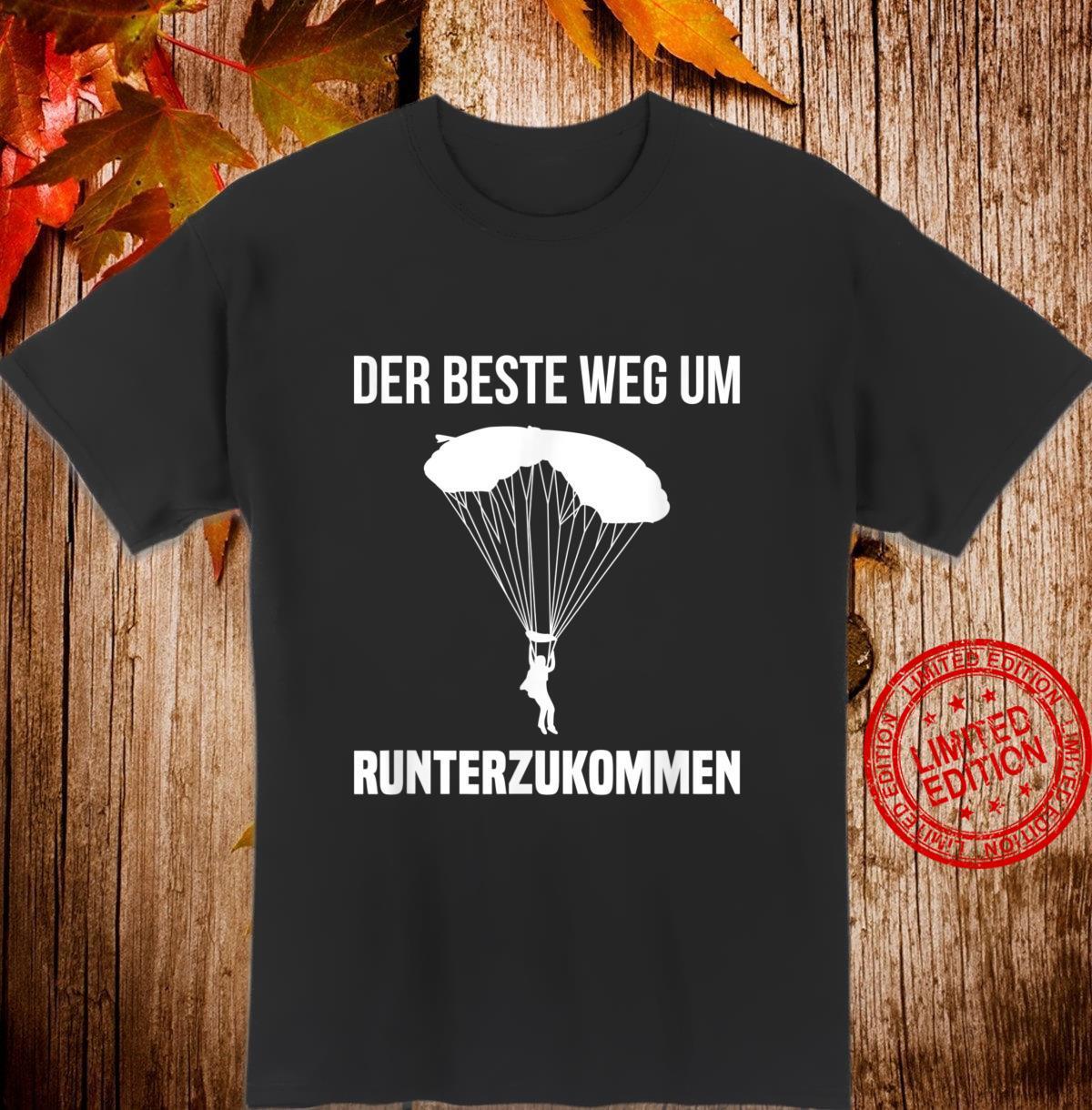 Fallschirm Fallschirmspringer Skydiving Gleitschirm Geschenk Shirt