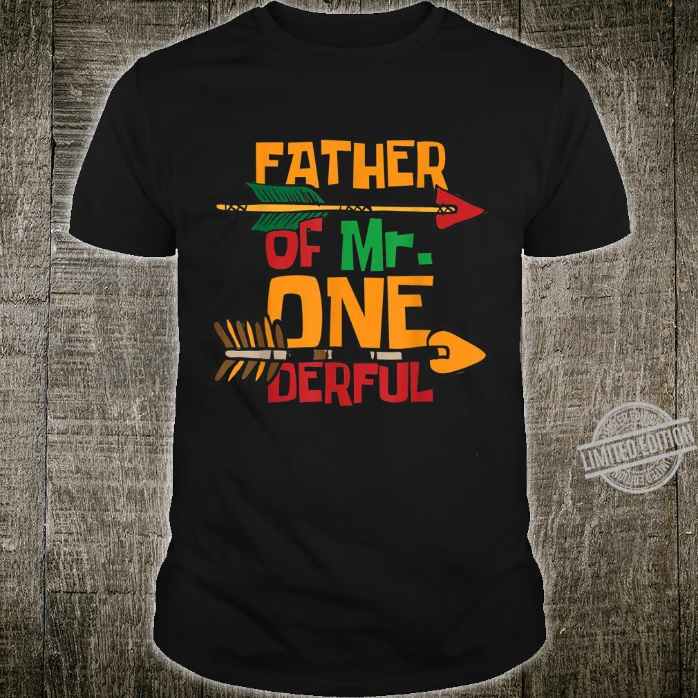Father of Mr. Onederful Matching Family 1st Birthday Shirt