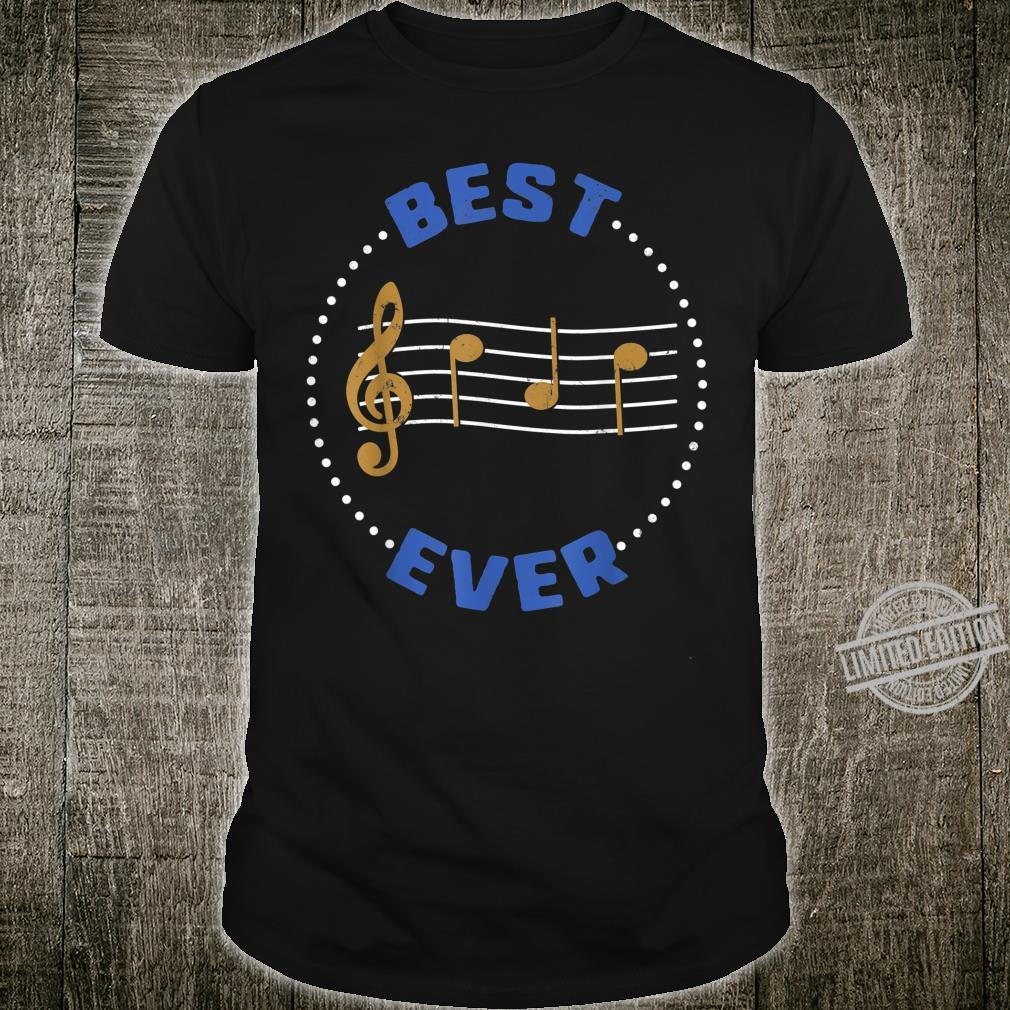 Fathers Day Best Dad Ever Music Player Musician Shirt