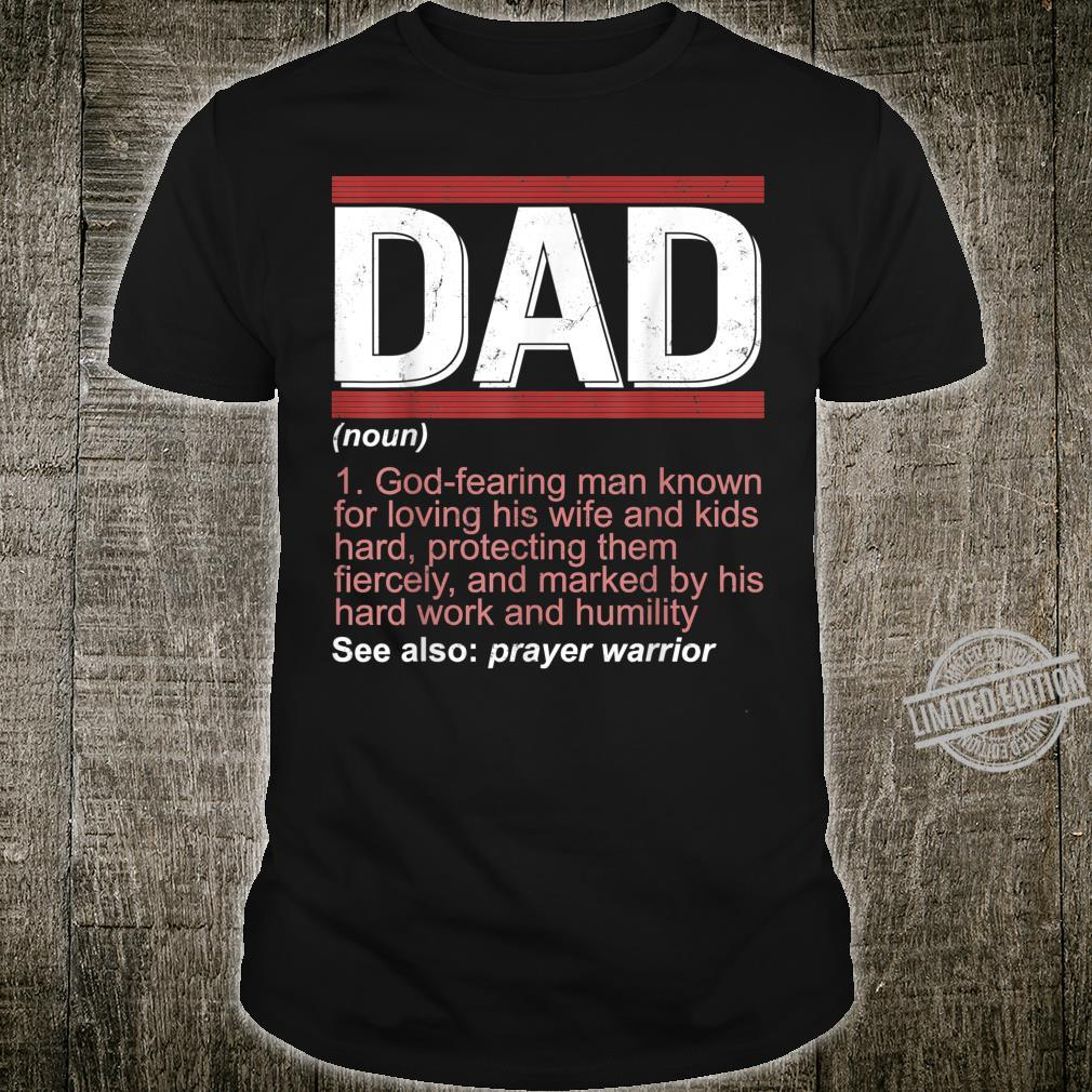 Fathers Day Christian Dad Definition Retro Shirt